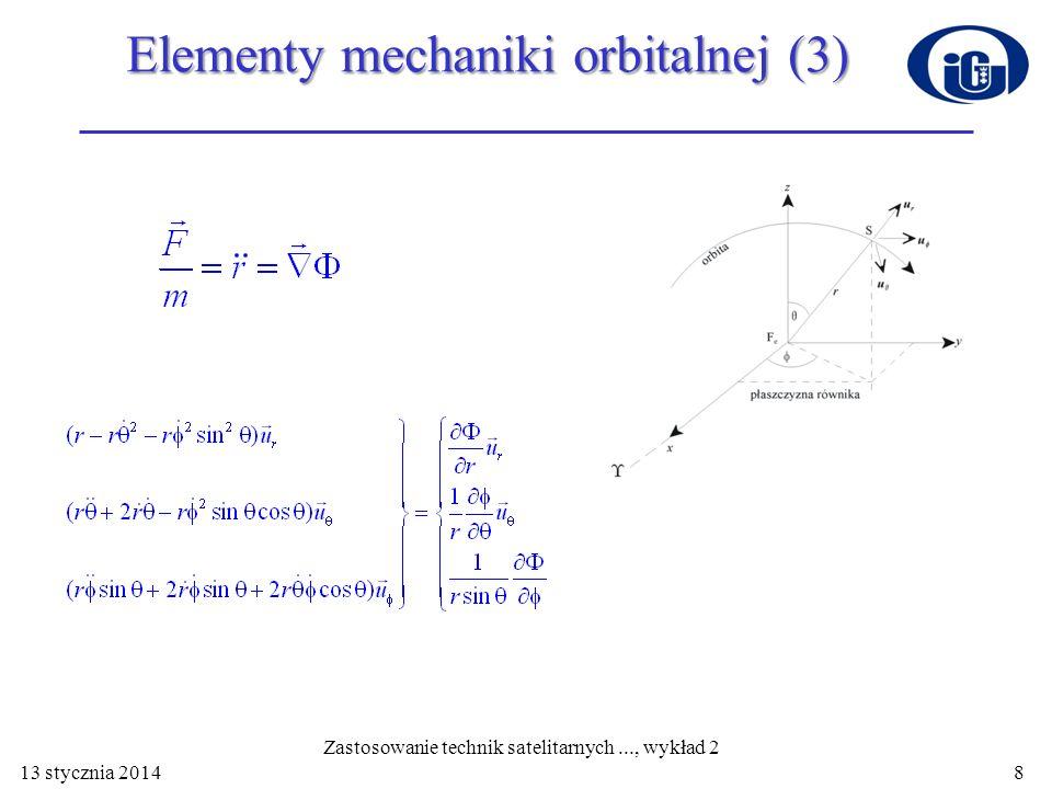 Elementy mechaniki orbitalnej (3)