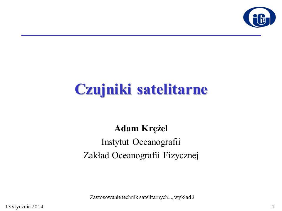Adam Krężel Instytut Oceanografii Zakład Oceanografii Fizycznej