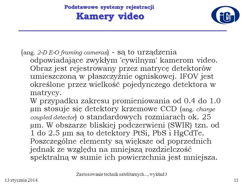 Podstawowe systemy rejestracji Kamery video