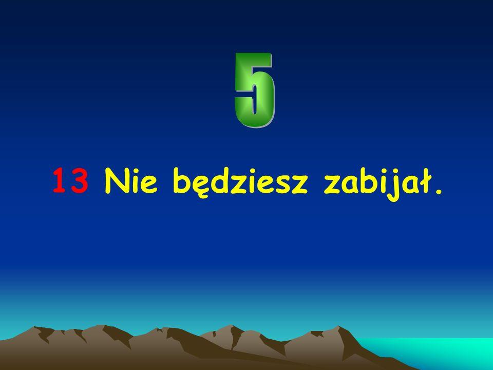 5 13 Nie będziesz zabijał.