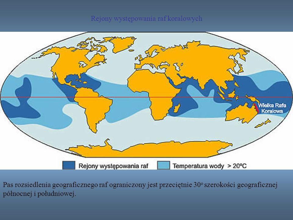 Rejony występowania raf koralowych