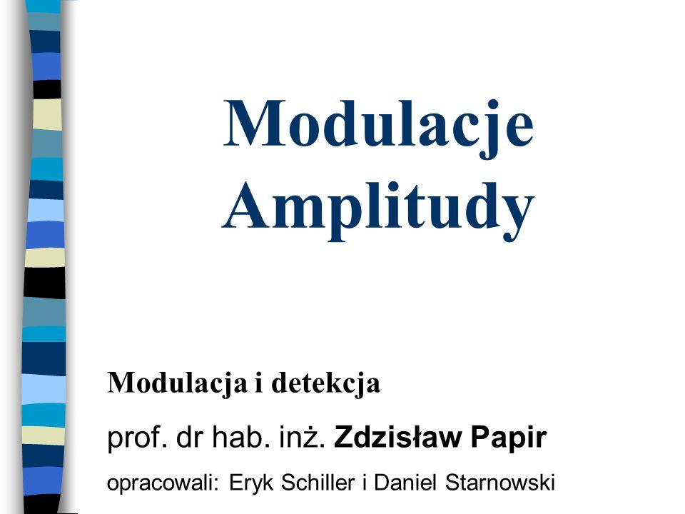 Modulacje Amplitudy Modulacja i detekcja
