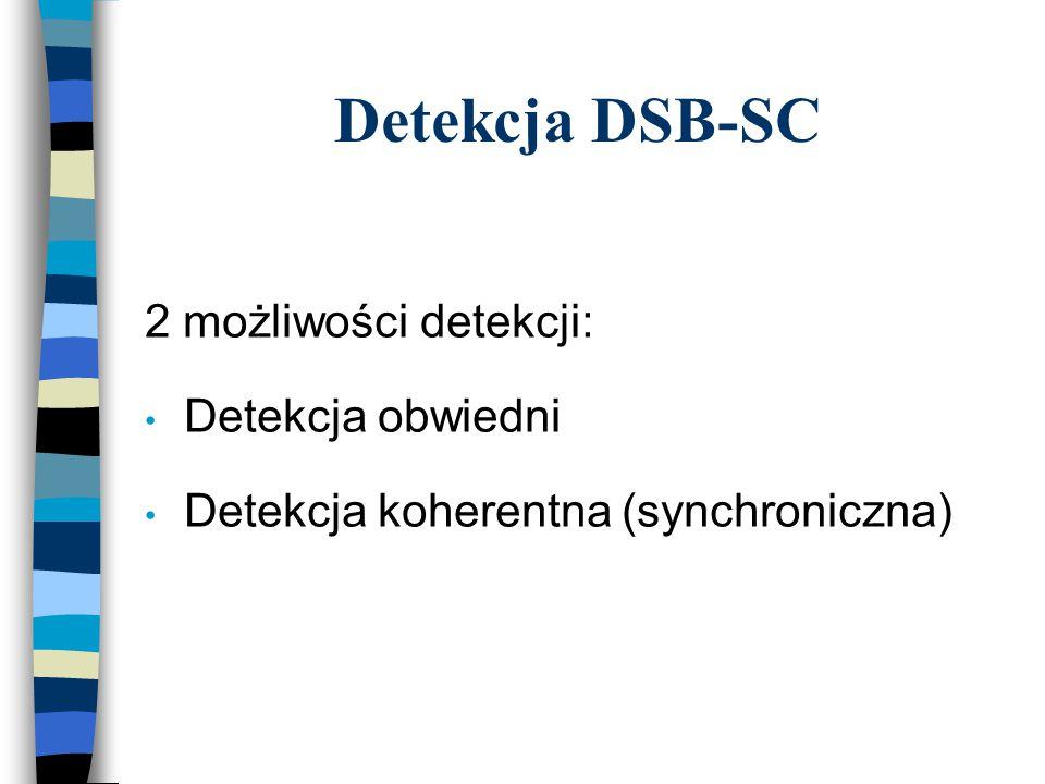 Detekcja DSB-SC 2 możliwości detekcji: Detekcja obwiedni