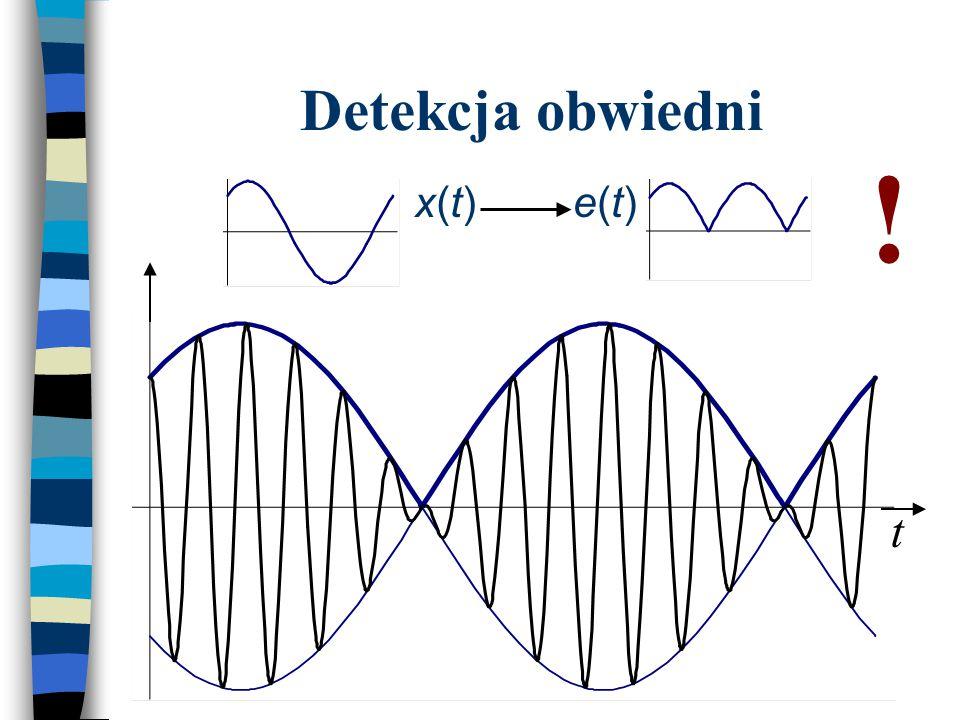 Detekcja obwiedni ! x(t) e(t) t