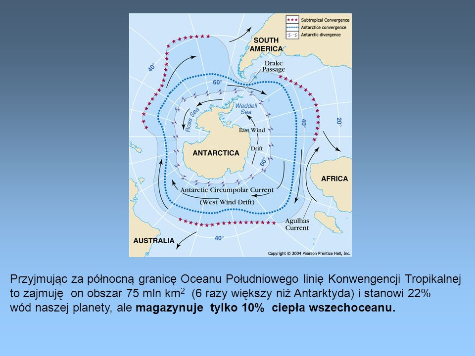 Przyjmując za północną granicę Oceanu Południowego linię Konwengencji Tropikalnej