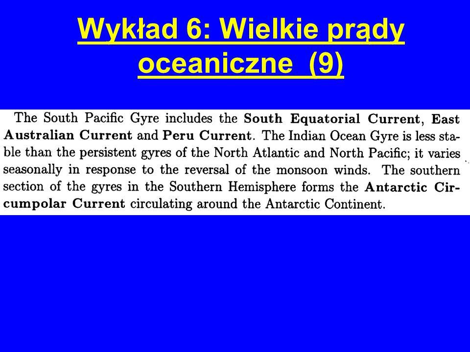 Wykład 6: Wielkie prądy oceaniczne (9)