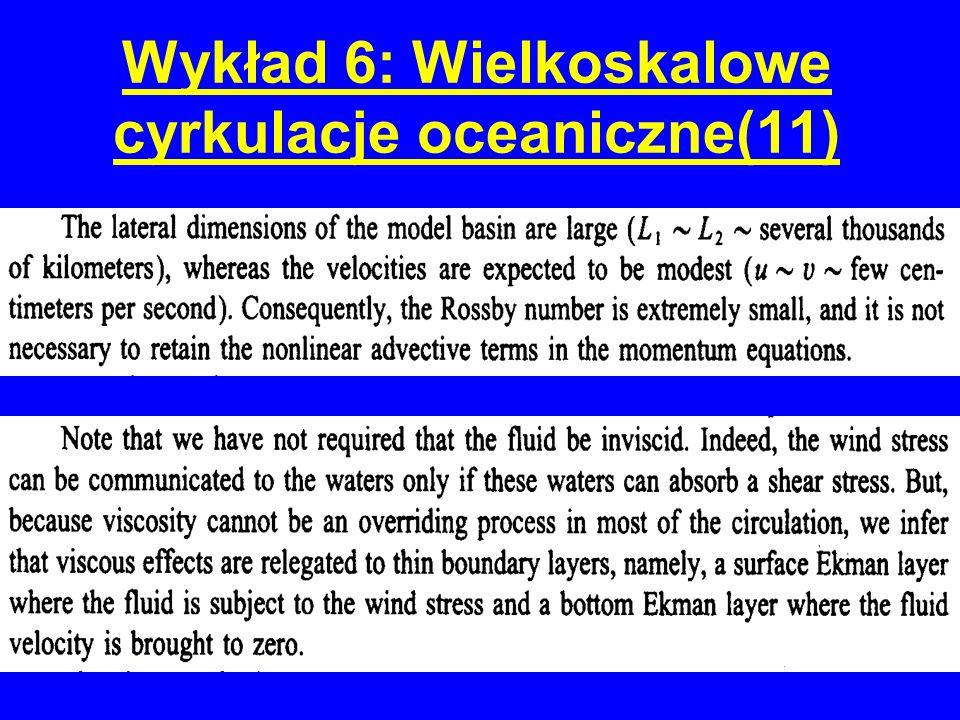 Wykład 6: Wielkoskalowe cyrkulacje oceaniczne(11)