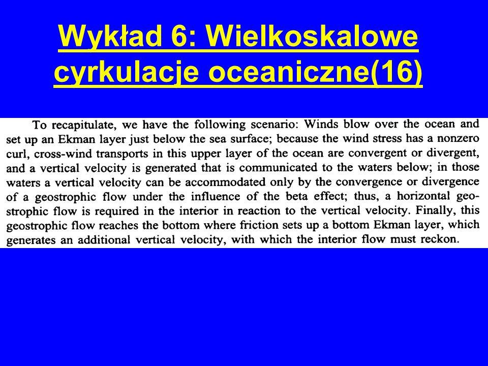 Wykład 6: Wielkoskalowe cyrkulacje oceaniczne(16)