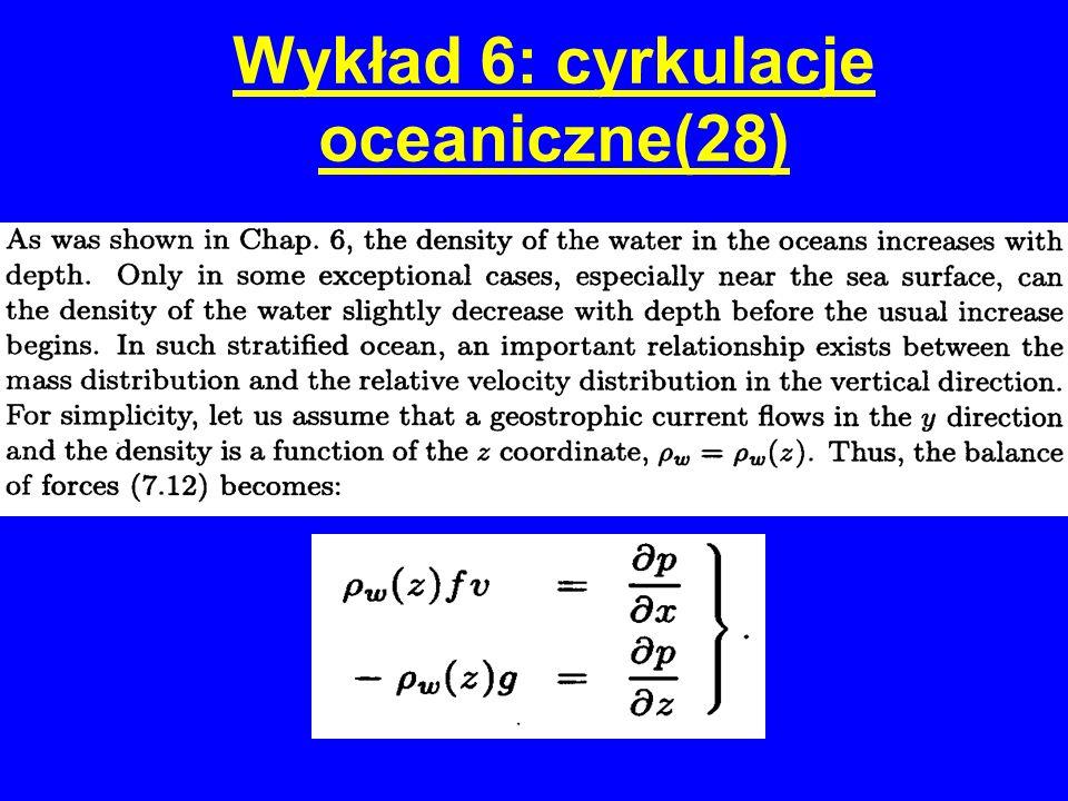 Wykład 6: cyrkulacje oceaniczne(28)