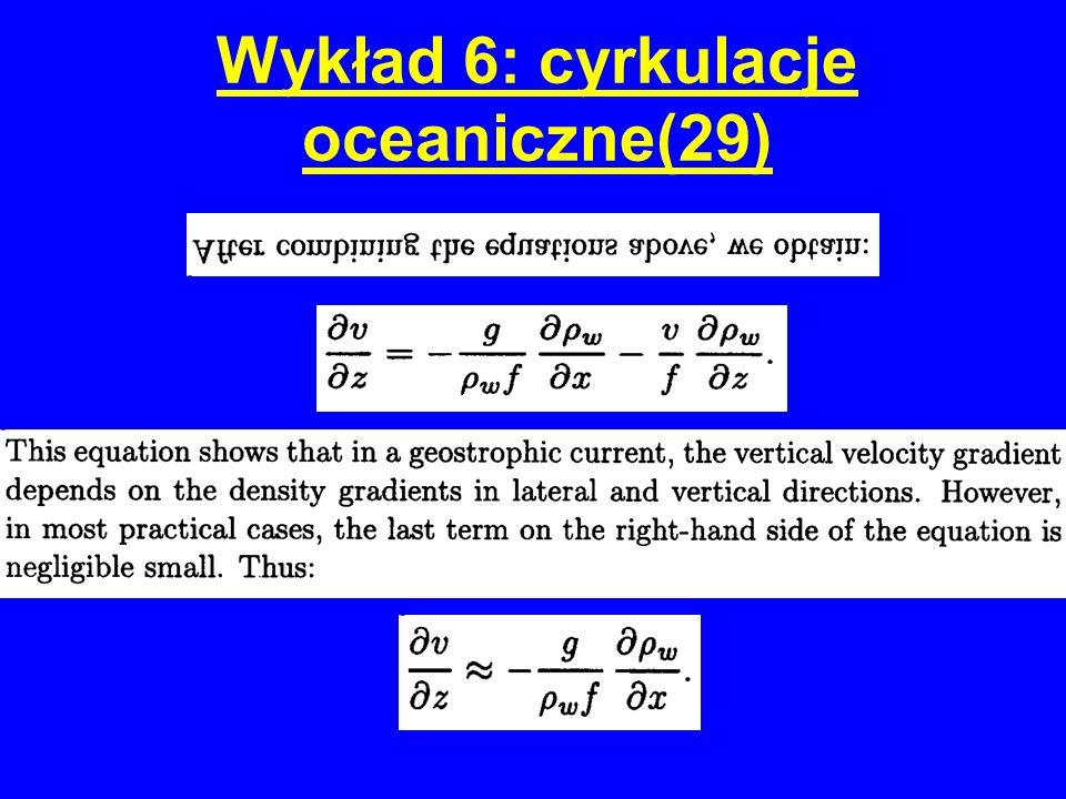 Wykład 6: cyrkulacje oceaniczne(29)