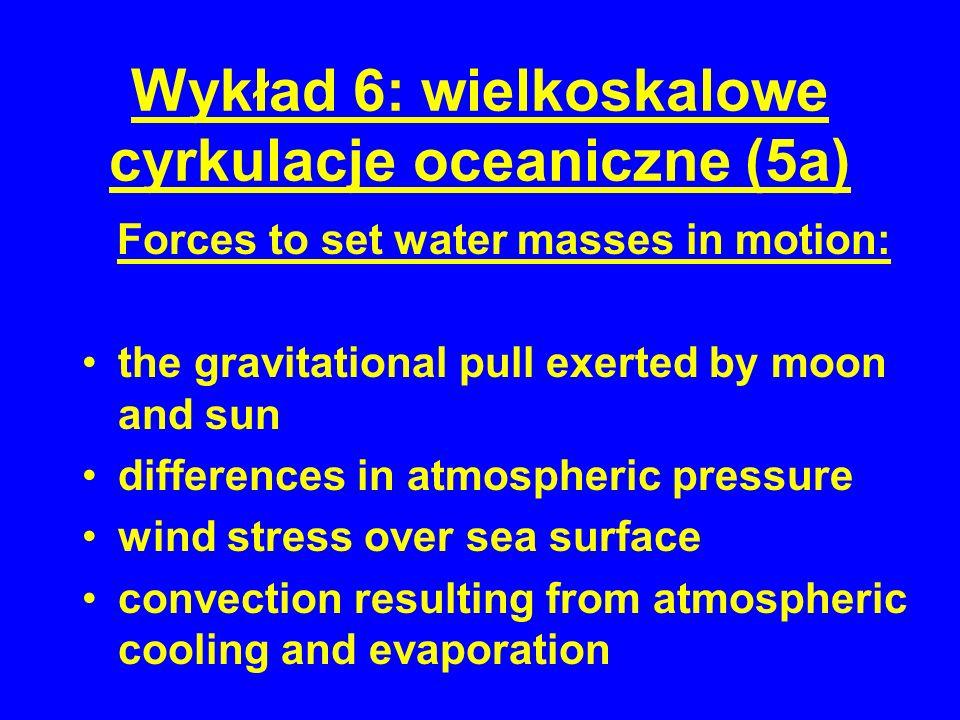 Wykład 6: wielkoskalowe cyrkulacje oceaniczne (5a)