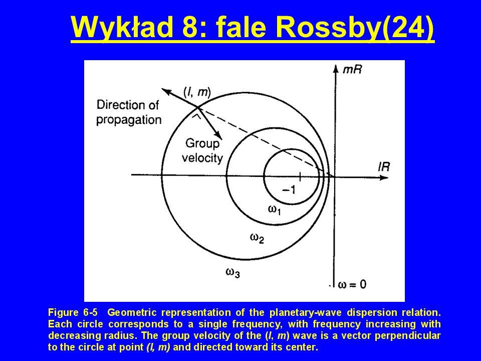 Wykład 8: fale Rossby(24)