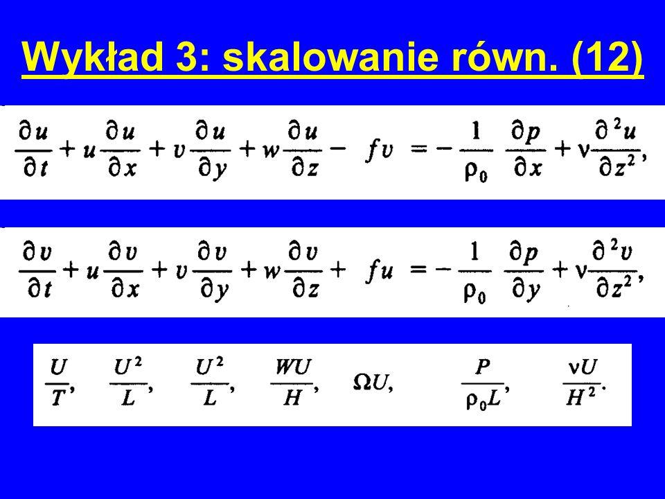Wykład 3: skalowanie równ. (12)