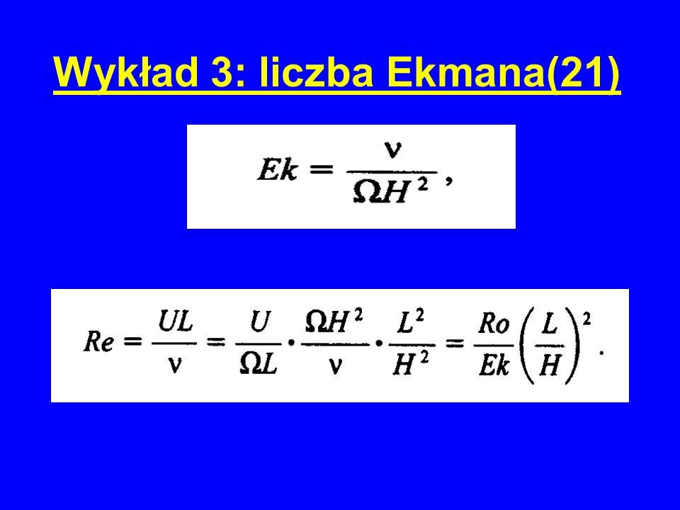 Wykład 3: liczba Ekmana(21)