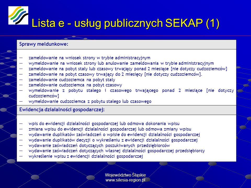 Lista e - usług publicznych SEKAP (1)