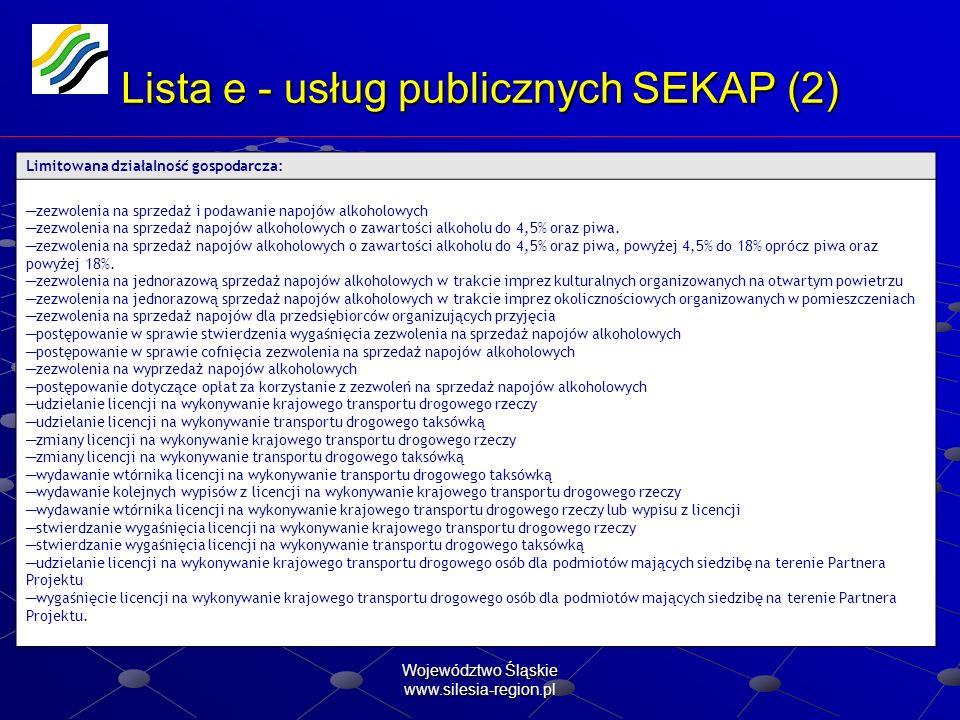 Lista e - usług publicznych SEKAP (2)