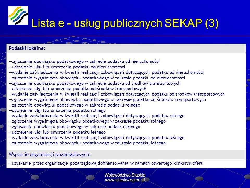Lista e - usług publicznych SEKAP (3)