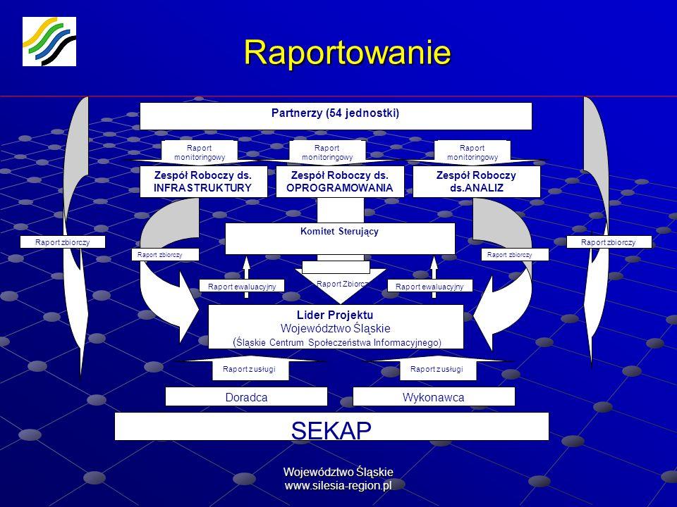 Raportowanie SEKAP Partnerzy (54 jednostki) Lider Projektu