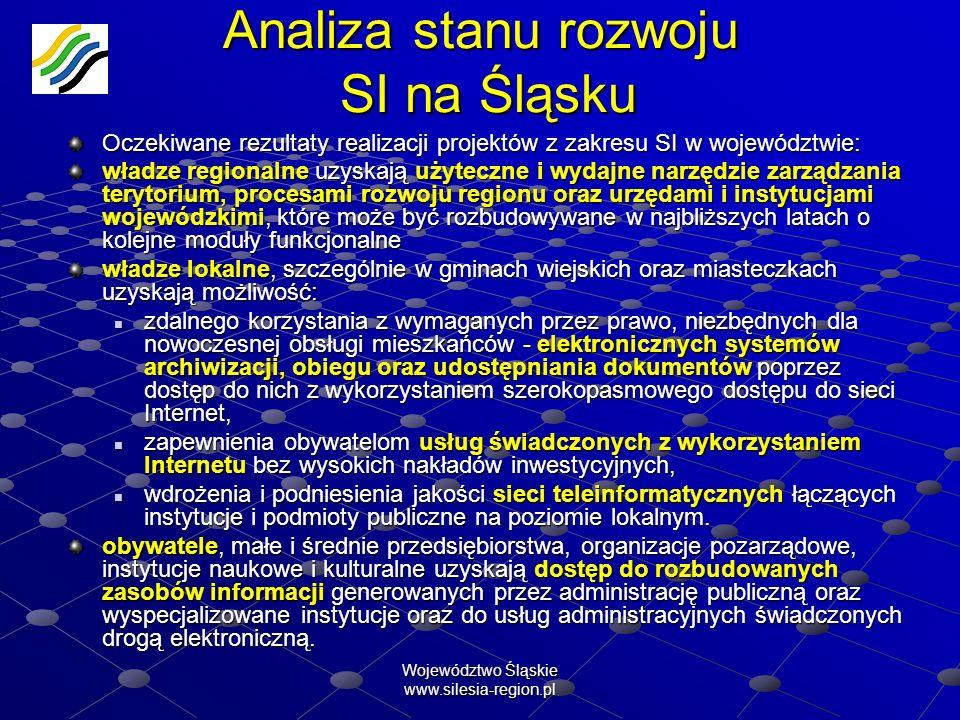 Analiza stanu rozwoju SI na Śląsku