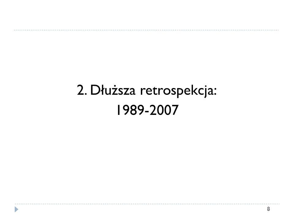 2. Dłuższa retrospekcja: 1989-2007