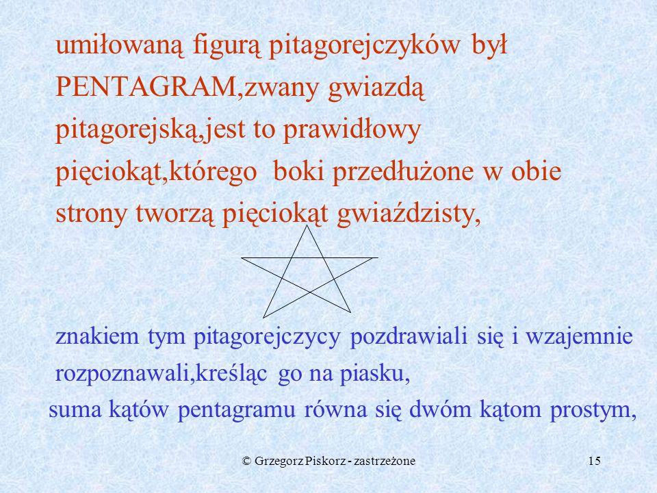 © Grzegorz Piskorz - zastrzeżone