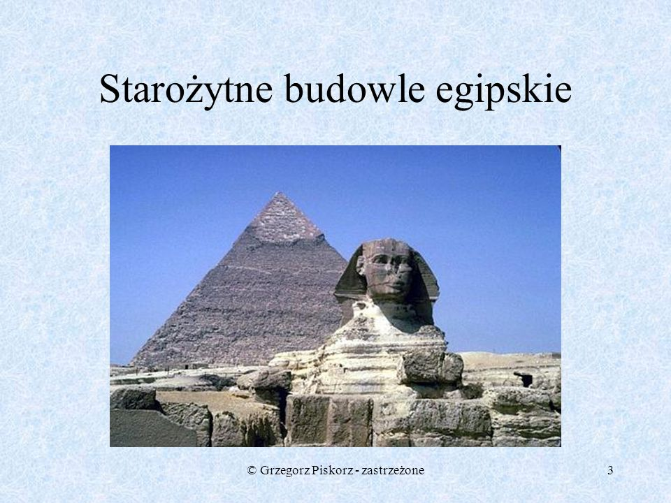 Starożytne budowle egipskie
