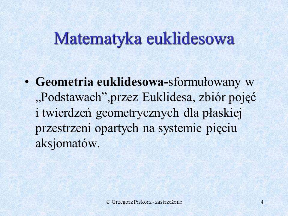 Matematyka euklidesowa