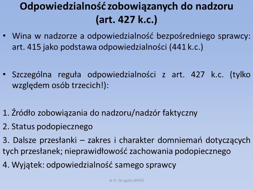 Odpowiedzialność zobowiązanych do nadzoru (art. 427 k.c.)