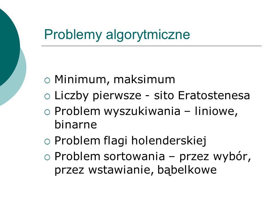 Problemy algorytmiczne