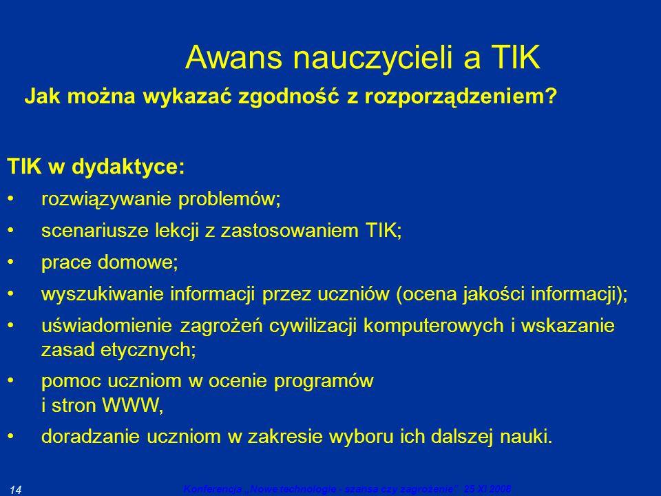 Awans nauczycieli a TIK