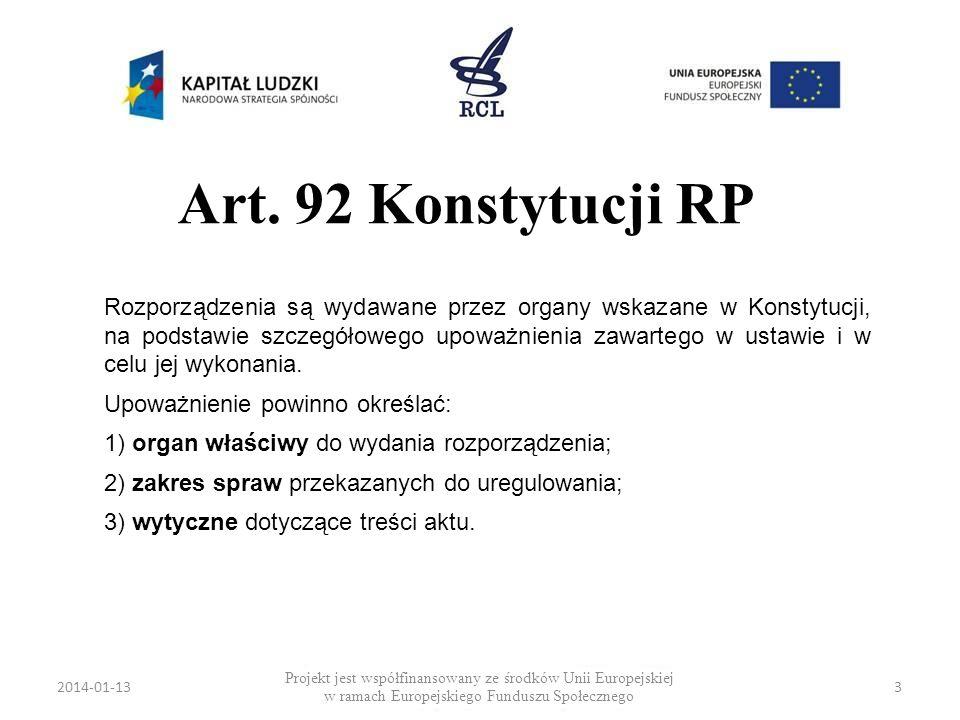 Art. 92 Konstytucji RP