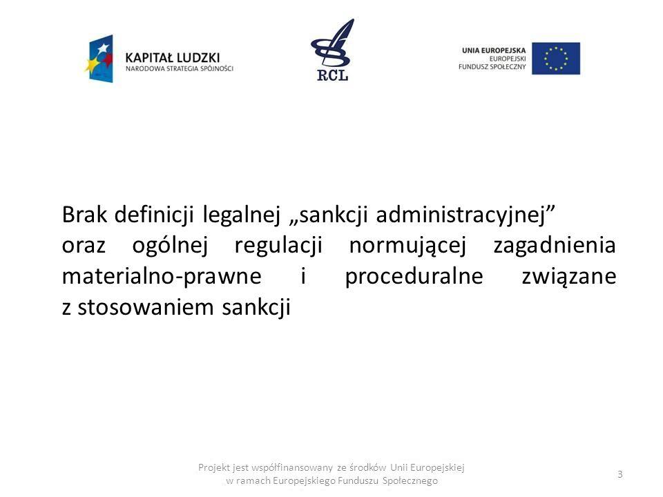 """Brak definicji legalnej """"sankcji administracyjnej"""
