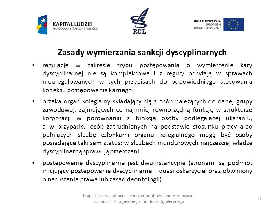 Zasady wymierzania sankcji dyscyplinarnych
