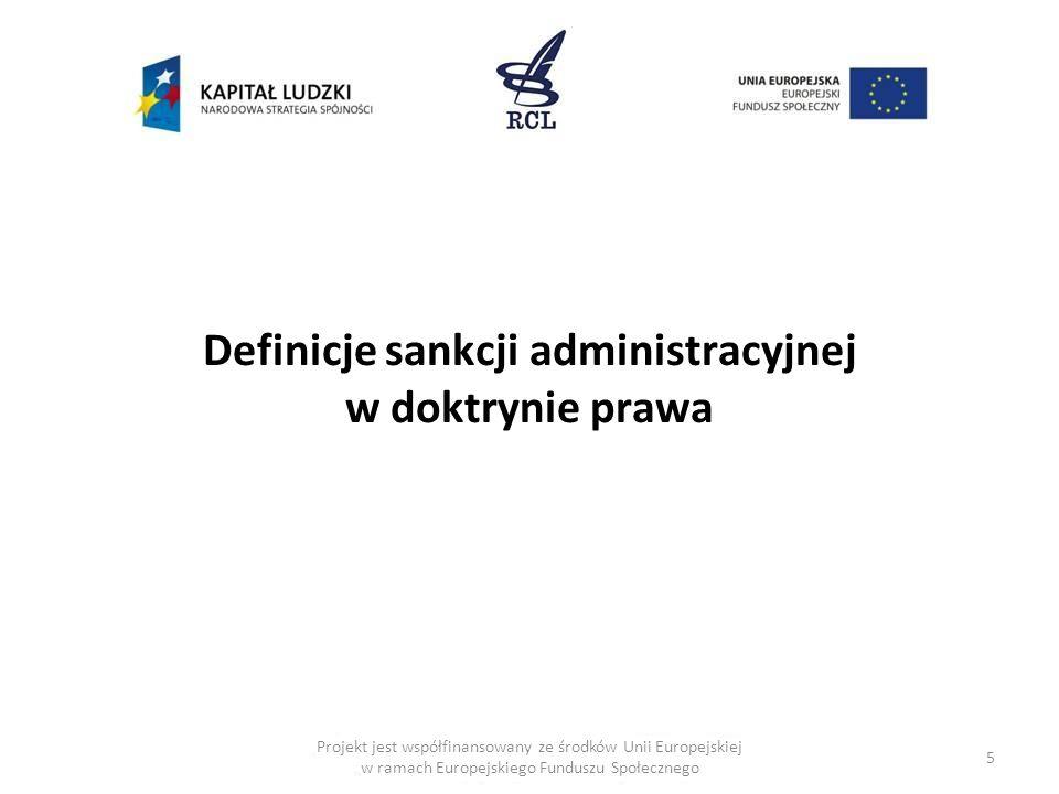Definicje sankcji administracyjnej w doktrynie prawa