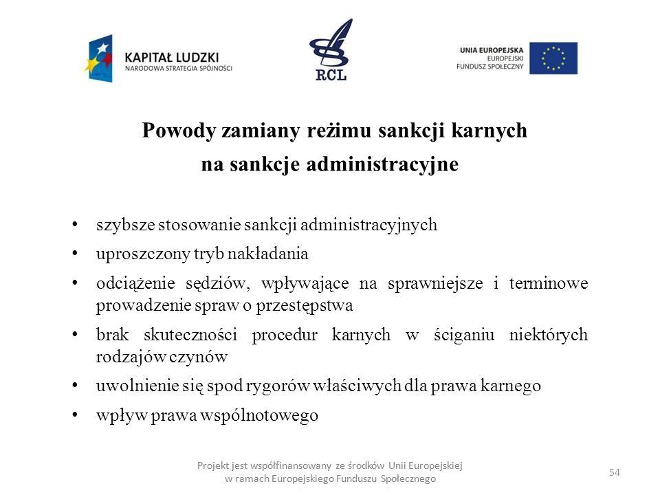na sankcje administracyjne