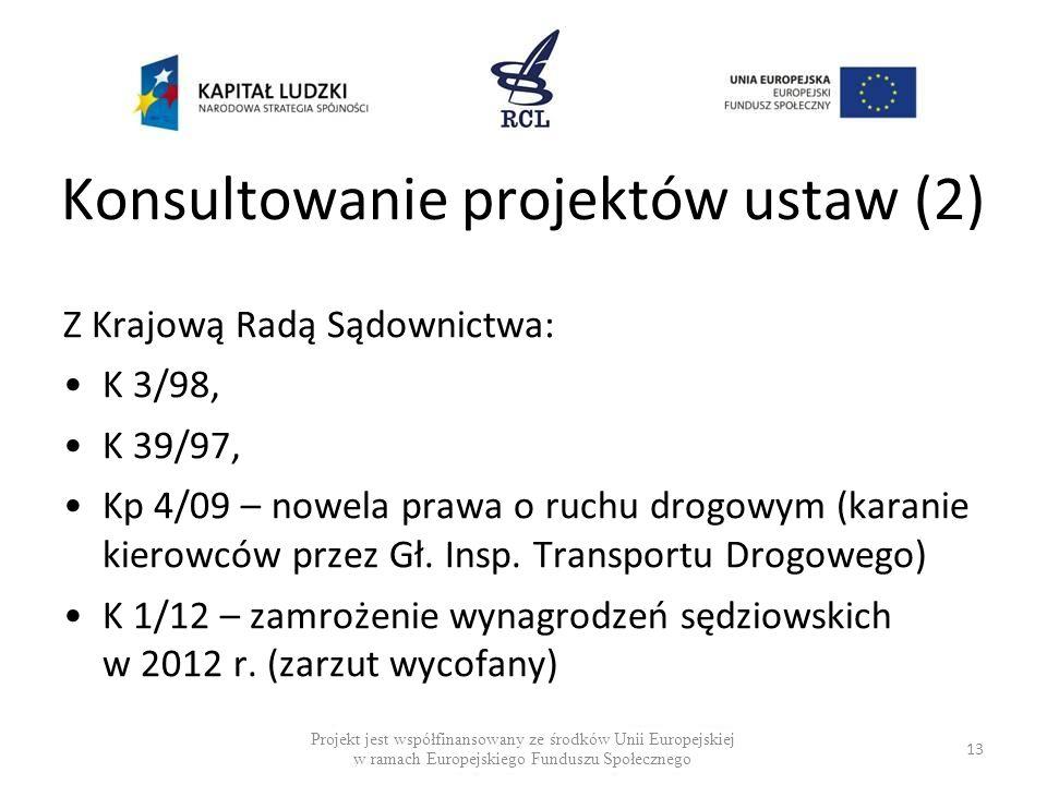Konsultowanie projektów ustaw (2)