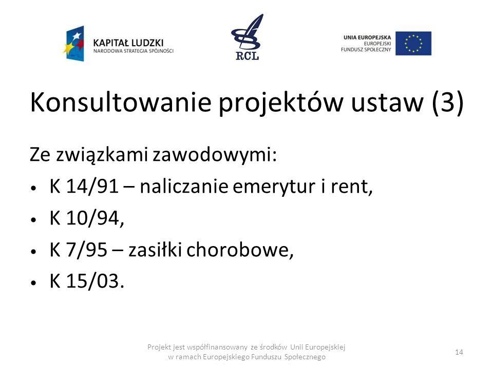 Konsultowanie projektów ustaw (3)