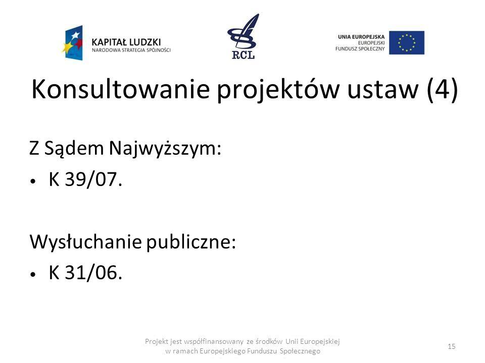 Konsultowanie projektów ustaw (4)