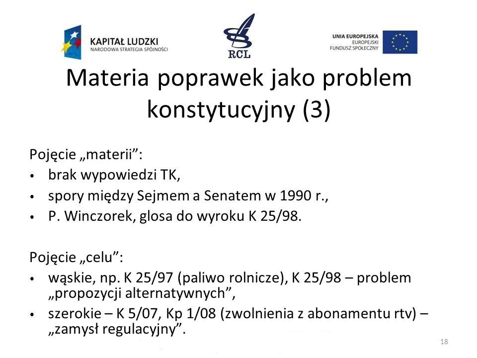 Materia poprawek jako problem konstytucyjny (3)