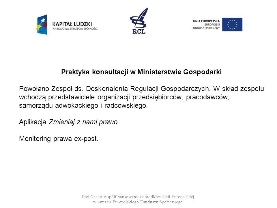 Praktyka konsultacji w Ministerstwie Gospodarki