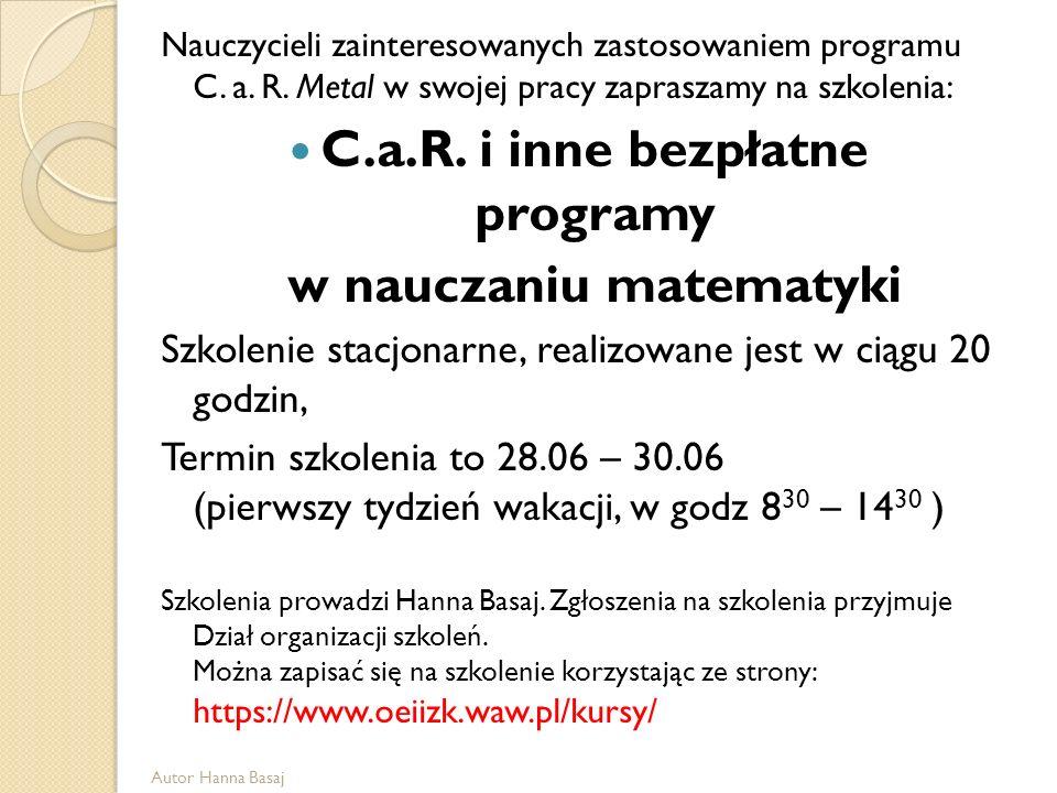 C.a.R. i inne bezpłatne programy