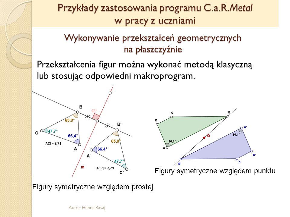 Wykonywanie przekształceń geometrycznych na płaszczyźnie
