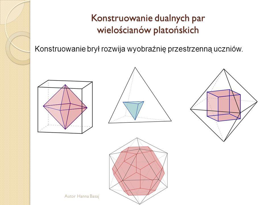 Konstruowanie dualnych par wielościanów platońskich