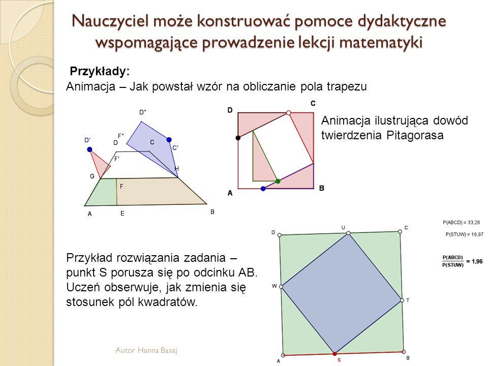 Nauczyciel może konstruować pomoce dydaktyczne wspomagające prowadzenie lekcji matematyki