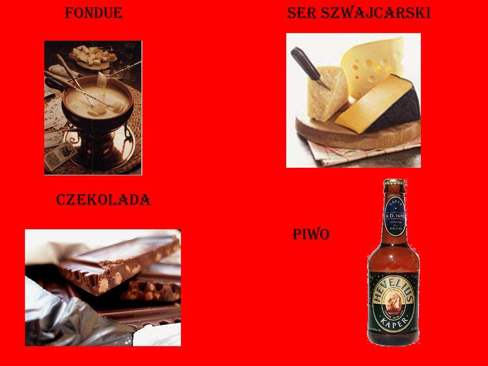 fondue Ser szwajcarski czekolada piwo