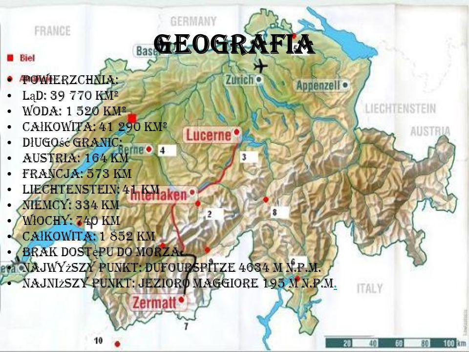 Geografia Powierzchnia: ląd: 39 770 km² woda: 1 520 km²