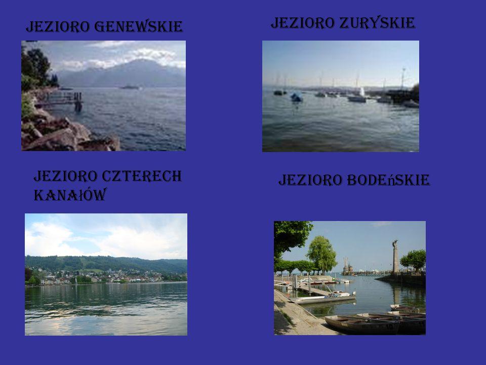 Jezioro zuryskie Jezioro genewskie Jezioro czterech kanałów Jezioro bodeńskie