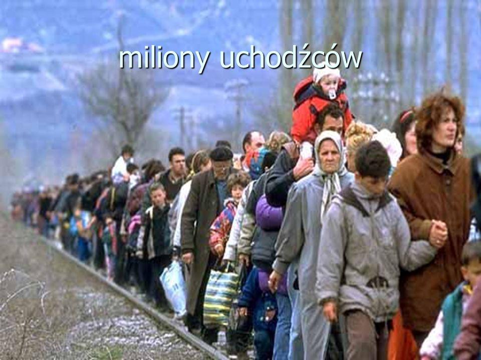miliony uchodźców