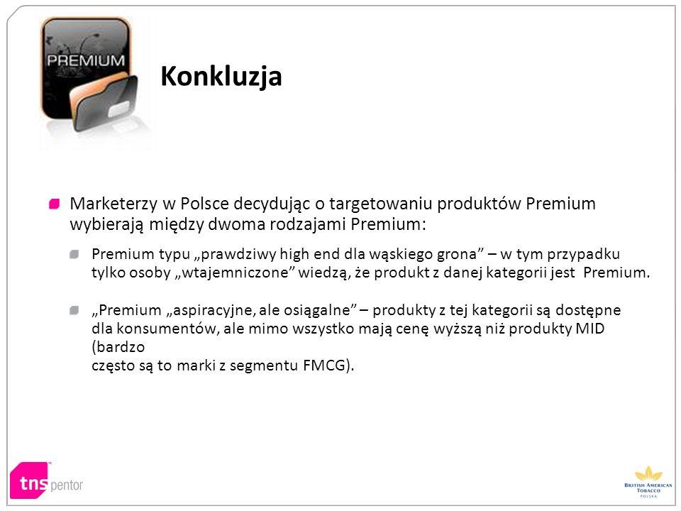 Konkluzja Marketerzy w Polsce decydując o targetowaniu produktów Premium wybierają między dwoma rodzajami Premium: