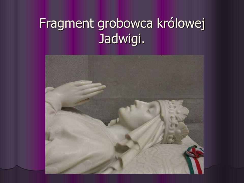 Fragment grobowca królowej Jadwigi.